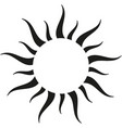 black sun border vector image