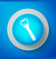 bottle opener icon isolated on blue background vector image vector image
