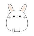 bunny rabbit cute kawaii cartoon characterfunny vector image