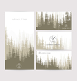 business cards design set brown forest and vector image