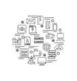 business symbol design element background vector image