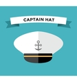 Captain hat with anchor flat icon vector image vector image