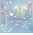 Christmas cityscape in St Petersburg Russia vector image vector image