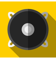 Colorful speaker icon in modern flat style with vector image vector image
