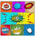comic book page template vector image vector image