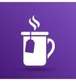 Cup of hot tea icon logo vector image vector image