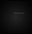dark carbon fiber closeup texture black vector image
