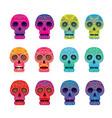 day dead skull set vector image vector image
