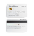 detailed realistic credit cards on grey background vector image vector image