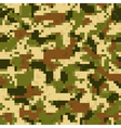 Digit camouflage seamless pattern vector image vector image