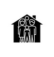 family house black icon sign on isolated vector image vector image