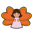 female angel icon image vector image