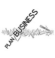 five steps to an effective business plan text vector image vector image