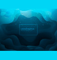 fluid shape abstract underwater design vector image