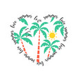 hand drawing palms and heart vector image vector image