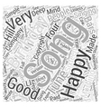 Happy Birthday song Word Cloud Concept vector image vector image