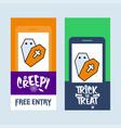 happy halloween invitation design with coffin vector image vector image