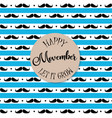 happy movember vector image vector image
