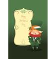 Happy St Patrick Day gratters cartoon Leprechaun vector image vector image