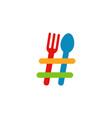 hashtag food logo symbol logo vector image