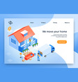 home moving service isometric website vector image vector image