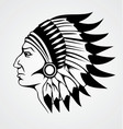 Indian Head vector image vector image
