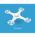 isometric white quadcopter drone vector image vector image