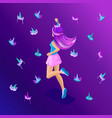 isometry set of young girls teenagers generation vector image vector image