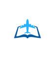 joutney book logo icon design vector image vector image