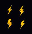 lightning bolt flash vector image vector image
