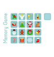 memory game with christmas elements pixel-art vector image vector image