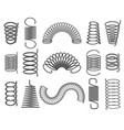 metal springs isolated on white vector image vector image