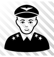 Military Pilot Officer Icon vector image