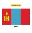 Mongolian grunge flag vector image vector image