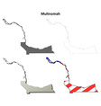 Multnomah Map Icon Set vector image vector image