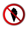 no ice cream sign vector image vector image