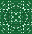 ornamental background in pcb-layout style vector image