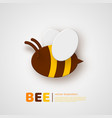 paper cut style bee element for beekeeping and vector image