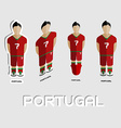 Portugal Soccer Team Sportswear Template vector image vector image