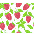 raspberry seamless patterns endless ornament of vector image vector image