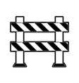 roadblock road safety icon image vector image vector image
