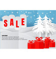 sale poster or flyer design in paper art style vector image