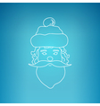Santa Claus Face on a Blue Background vector image