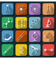 Science flat icons vector image