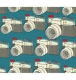 Seamless pattern with old photo cameras vector image vector image