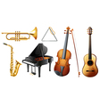 Set of musical instruments vector image