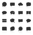 Set of speech bubble icons on white background vector image vector image