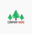 simple tree logo vector image vector image