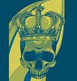 skull king crown design element vector image
