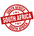 south africa red round grunge stamp vector image vector image